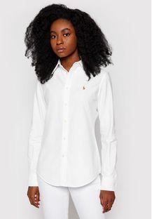 Polo Ralph Lauren Koszula Washed Oxford 211743355 Biały Slim Fit