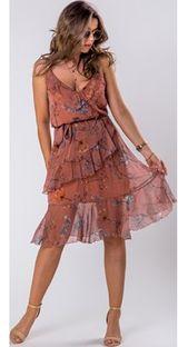 Sukienka Ptakmoda.com wyszczuplająca z tiulu