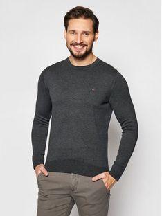 TOMMY HILFIGER Sweter MW0MW04978 Szary Regular Fit