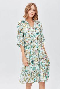 Wzorzysta sukienka damska