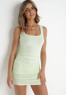Limonkowa Sukienka Callamara