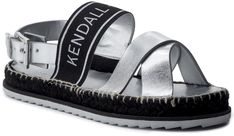 Espadryle KENDALL + KYLIE - Bowie Silver/Blk Hon