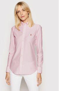 Polo Ralph Lauren Koszula Oxford 211664416 Różowy Slim Fit