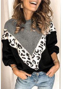 Sweter damski Sandbella wielokolorowy z dzianiny casual