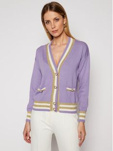 Luisa Spagnoli Sweter Maffer 0636183 Fioletowy Regular Fit