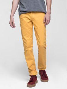 Vistula Spodnie materiałowe Flint XA0613 Żółty Slim Fit