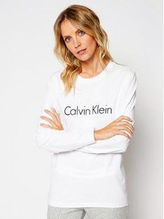 Calvin Klein Underwear Bluzka 000QS6164E Biały Relaxed Fit