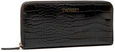Duży Portfel Damski TWINSET - Zip Around 202TB7250 St.Cocco Nero 04291