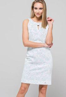 Koktajlowa sukienka z subtelną fakturą