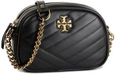 Torebka TORY BURCH - Kira Chevron Camera Bag 60227 Black 001