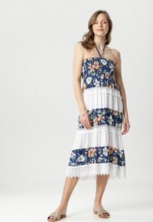 Granatowa Sukienka Aethereia