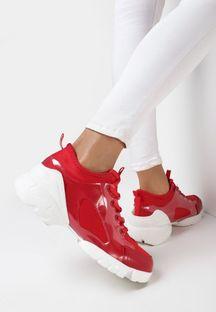 Czerwone Sneakersy Bathaphaura