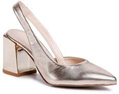 Sandały SAGAN - 4279 Złoty Lico