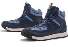 Buty zimowe męskie Lacoste sznurowane niebieskie z gumy sportowe