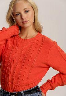 Pomarańczowy Sweter Daratrine