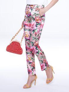 Eleganckie spodnie z motywem kwiatowym L`AF BERGAMO