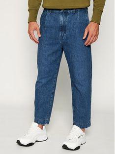 Wrangler Jeansy Regular Fit Pleated Chino W15LQ7052 Granatowy Regular Fit