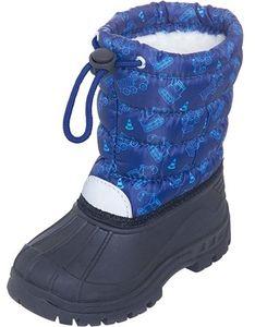 Buty zimowe dziecięce Playshoes bez wzorów na rzepy kozaki