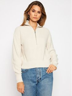 Calvin Klein Jeans Sweter J20J214984 Beżowy Regular Fit
