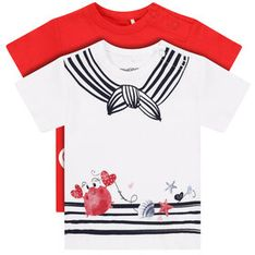 Primigi Komplet 2 t-shirtów Easy Wear Girl 45226501 Kolorowy Regular Fit