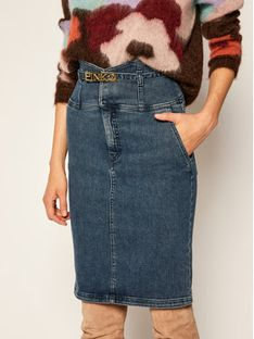 Pinko Spódnica jeansowa Ariella AL 20-21 PDEN 1J10J0 Y62Q Granatowy Slim Fit