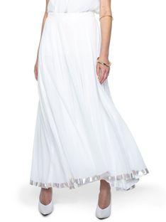 Zwiewna biała spódnica AK ETNO 7