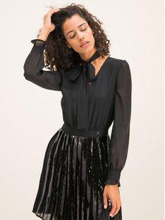 Trussardi Jeans Sukienka koktajlowa Georgette 56D00313 Czarny Regular Fit