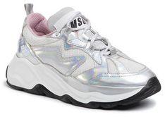 MSGM Sneakersy Scarpa Donna 2742MDS2086 707 90 Srebrny