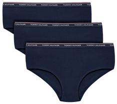 TOMMY HILFIGER Komplet 3 par fig klasycznych UW0UW00010 Granatowy