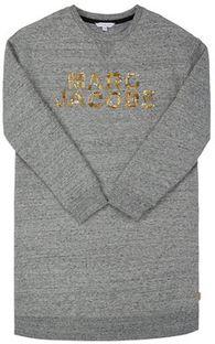 Little Marc Jacobs Sukienka codzienna W12305 D Szary Regular Fit