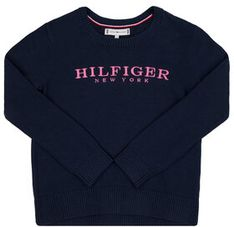 TOMMY HILFIGER Sweter Essential KG0KG04787 D Granatowy Regular Fit
