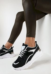 Czarne Sneakersy Auraneva