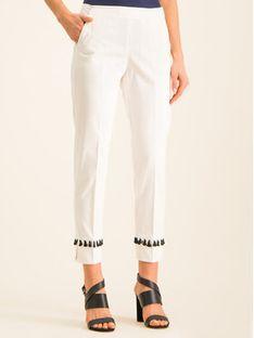 Pennyblack Spodnie materiałowe 21310919 Biały Comfort Fit