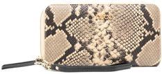 Duży Portfel Damski NOBO - NPUR-LI0192-CM15 Multi Beżowy Wąż