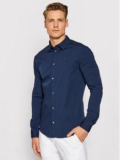 Tommy Jeans Koszula DM0DM04405 Granatowy Slim Fit