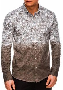 Koszula męska Ombre w abstrakcyjne wzory
