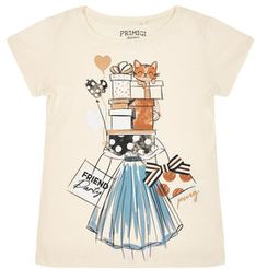 Primigi T-Shirt Feel Chic Today 45222507 Beżowy Regular Fit