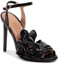 TwinSet Sandały Sandalo 201TCP114 Czarny