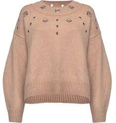 Sweter damski Pinko bezowy