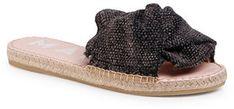 Manebi Espadryle Sandals With Knot C 3.0 J0 Czarny