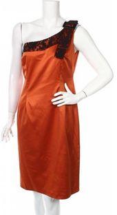 Sukienka Badoo na karnawał z asymetrycznym dekoltem mini bez rękawów