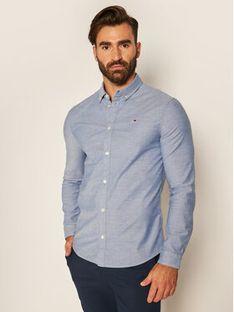 Tommy Jeans Koszula Oxford DM0DM09594 Niebieski Slim Fit