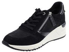 Buty sportowe damskie Tamaris sneakersy z zamkiem skórzane