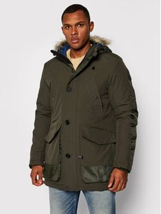 G-Star RAW Parka Vodan Faux Fur D17614-A281-995 Zielony Regular Fit