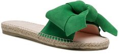 Manebi Espadryle Sandals With Bow M 3.7 J0 Zielony
