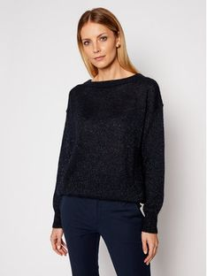Max Mara Leisure Sweter Pilade 33610116 Granatowy Regular Fit