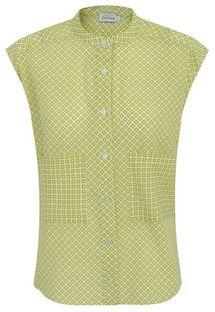 Bluzka w zielony geometryczny wzór Premiera Dona MELI