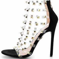 Sandały damskie Primamoda eleganckie na wysokim obcasie z zamkiem