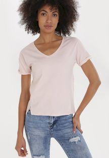 Jasnoróżowy T-shirt Echiseise