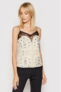 TwinSet Top 201TP2461 Beżowy Regular Fit